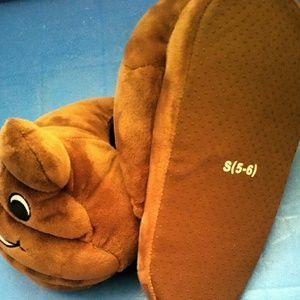 Warm and SUPER soft.Poop emoji slippers